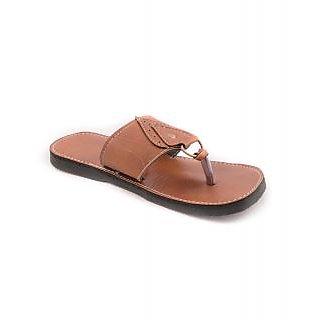 Kolhapuri Mens Style Tan Ethnic Slippers