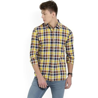 Black Bee Check Shirt For Men (MultiColor)