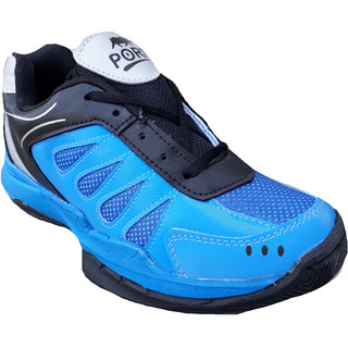 Port Mens Bulit Blue Mesh Runing Shoes