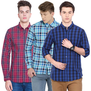 Balino L Check Casual Shirt For Men Combo Of 3