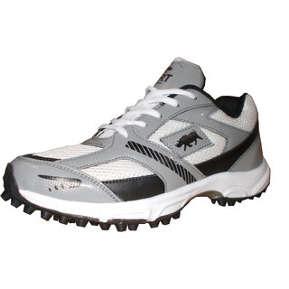 Port Player Art 136 Cricket Shoes Hockey Shoes (White)