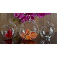 Importvala Hanging Glass Ball Set Of 3 Pcs