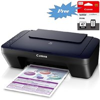 Canon Pixma E400 Multi-Function Inkjet Printer (Print, Scan, Copy) With Extra Black Cartridge