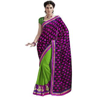 Indian Women Stunning Black Chiffon Saree With Blouse