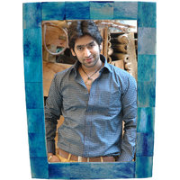 """Yado Photo Frame Bone Blue Color Set Of Two Pieces 7""""x 5"""" In India"""