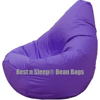 Rest N Sleep - Bean Bags / Chair With Beans - Pear Shape - Purple Color-For Kids