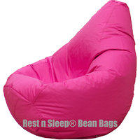 Rest N Sleep - Bean Bags / Chair With Beans - Pear Shape - Pink Color - XL