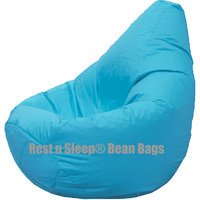 Rest N Sleep - Bean Bags / Chair With Beans - Pear Shape - Aqua Color - XL