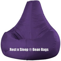 Rest N Sleep - Bean Bags / Chair With Beans - Pear Shape - Purple Color - XXL