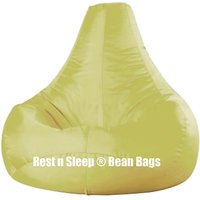 Rest N Sleep - Bean Bags / Chair With Beans - Pear Shape - Ivory Color - XXL