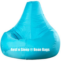 Rest N Sleep - Bean Bags / Chair With Beans - Pear Shape - Aqua Color - XXXL