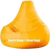 Rest N Sleep - Bean Bags / Chair With Beans - Pear Shape - Yellow Color - XXXL
