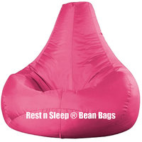 Rest N Sleep - Bean Bags / Chair Cover Only - Pear Shape - Pink Color - XXL