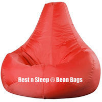 Rest N Sleep - Bean Bags / Chair Cover Only - Pear Shape - Red Color - XXL
