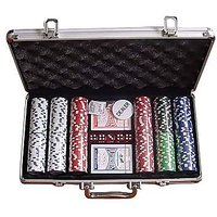 200 Piece Poker Casino Game Chips Set In A Aluminium Carry Case