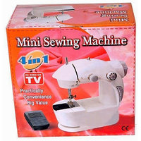 4 IN 1 Compact & Portable Sewing Machine With Foot Pedal & Free Power Adapter