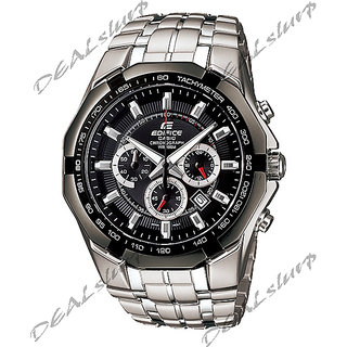 CASIO EDIFICE EF - 540 D-1AV, Black Dial, Steel Chronograph Men Watch (Imported)