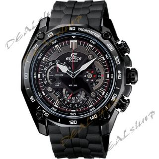 CASIO EDIFICE EF 550 BK AV Black Chronograph Men Watch