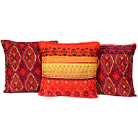 BSB Trendz Set of 5 Poly Cotton Cushion Covers 40X40 cm (16X16)