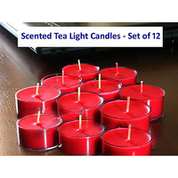 Scented Tea Light Candles - Set of 12