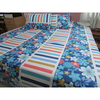 Floral Print Double Bedsheet With Pillow Covers 100% Cotton