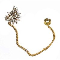 Habors Sparkling Star Crystal Ear Cuff With Chain