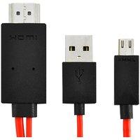 Samsung Galaxy Tab 3 8.0 MHL Micro USB To HDMI Adapter W/USB Charging Cable