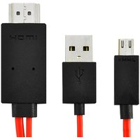 Samsung Galaxy Amp / SGH-i407 MHL Micro USB To HDMI Adapter W/USB Charging Cable