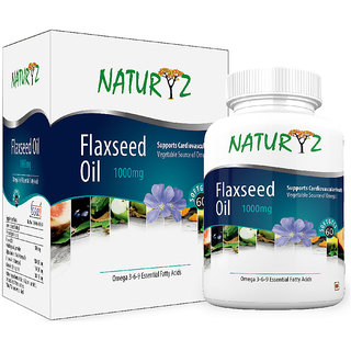 Naturyz Flaxseed Oil ( 3-6-9) 1000 mg -60 Softgel Capsules