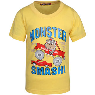 HAIG-DOT Lemon Printed Cotton Tshirt For Boys