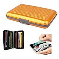 Aluminium Wallet -ATM,Credit, Debit Card For Security - Unisex - Color : GOLDEN