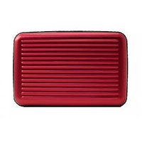 Aluminium Wallet -ATM,Credit, Debit Card For Security - Unisex - Color : RED