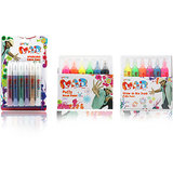 Mitashi Pogo Sparkling Fabric Paint - Pogo Puffy Paint - Pogo Neon Puffy Paint (Combo)