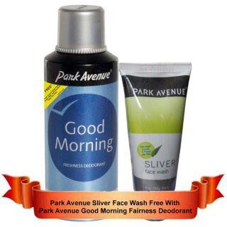 Park Avenue Good Morning 150ml + Silver Face Wash With Neem Extracts Worth 50Rs.