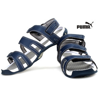 Puma Floater Aripon II Ind. Blue Grey Sandals Removable Back Strap Cum Slippers
