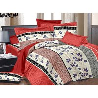 Zigma Collections Color Of Dreams Cotton Double Bedsheet (7010A)