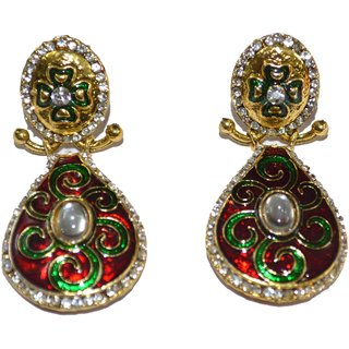 Meenakari drop down Earings
