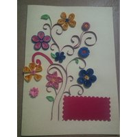 Handmade Quilling Paper Card Set Of 5
