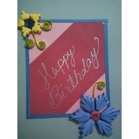 Handmade Quilling Paper Card Set Of 5 - 5256330