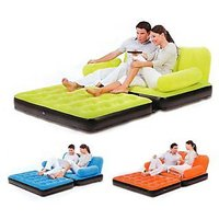 BestWay Branded Premium Velvet Inflatable 5 In 1 Sofa Bed Best Way
