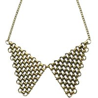 Habors Antique Gold Mesh Collar Necklace