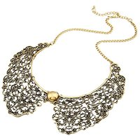 Habors Antique Gold Nakashi Collar Necklace