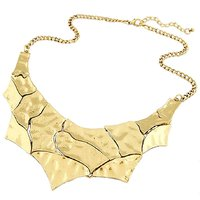 Habors Antique Gold Sameen Statement Choker Necklace