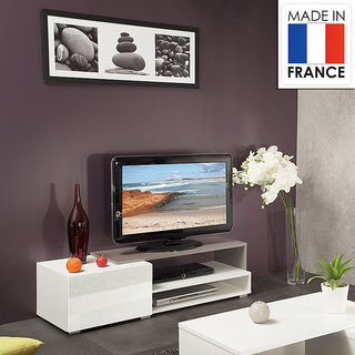 Pepper TV stand - dcor white and grey
