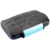 JJC 4x CF And 8x SD Memory Card Case Holder (Blue)