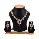 The Pari Beautiful Red And Golden Necklace (EY-09)