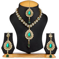 The Pari Green Necklace Sets For Women