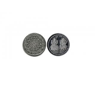 Diwali Gift / Puja Item Lakshmi Ganesh Silver Coin