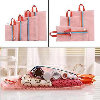 AMAFHH53 Home Organiser Pouch Mesh Handbags Travel Cloths Storage