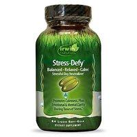 Irwin Naturals Stress Defy, Balanced, Relaxed, Calm Soft-Gels, 84-Count Bottle